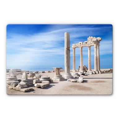 Glasbild Ruinen der Antike