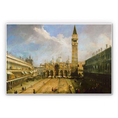 Hartschaumbild Canaletto - Die Piazza San Marco