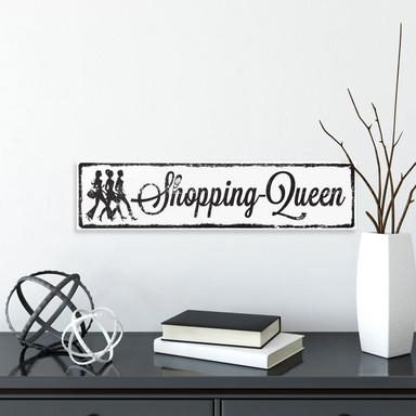 Hartschaum-Dekoschild Shopping-Queen