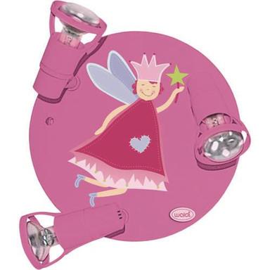 Kindgerechtes Deckenrondell Fee pink 3-flg. - Bild 1
