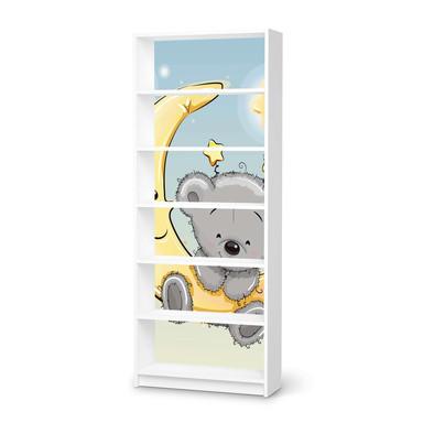 Klebefolie IKEA Billy Regal 6 Fächer - Teddy und Mond- Bild 1