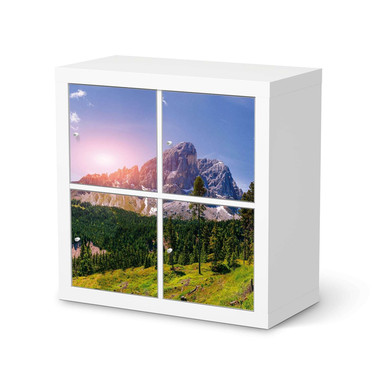 Klebefolie IKEA Kallax Regal 4 Türen - Alpenblick