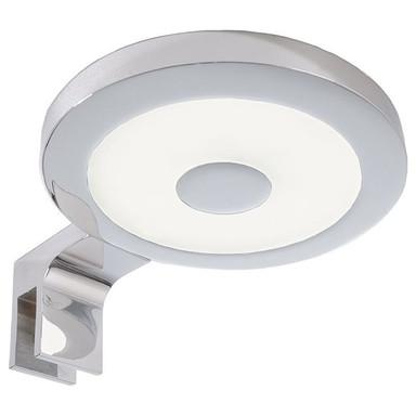 LED Spiegelleuchte Rund II in Silber und Chrom 4.5W 300lm 4000K IP44