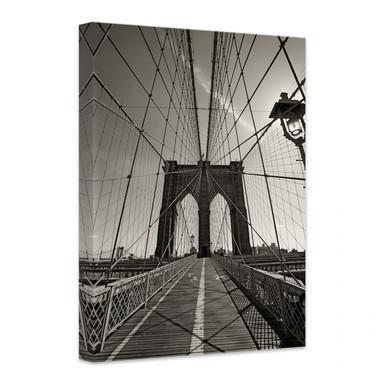 Leinwandbild Brooklyn Bridge Perspektive