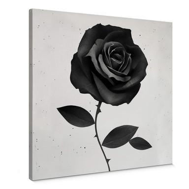 Leinwandbild Ireland - Fabric Rose - Stoffrose