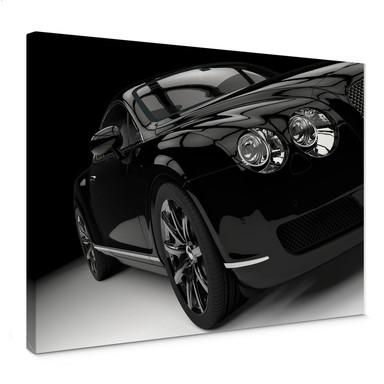 Leinwandbild Metallic Car Black 02