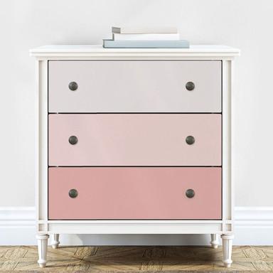 Möbelfolie, Dekofolie - abwischbar - Farbverlauf Puder - 3er Set - Bild 1