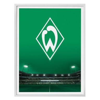 Poster Werder Bremen Logo mit Tribüne