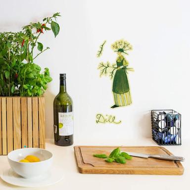 Wandtattoo Leffler - Kräuterfrau Dill