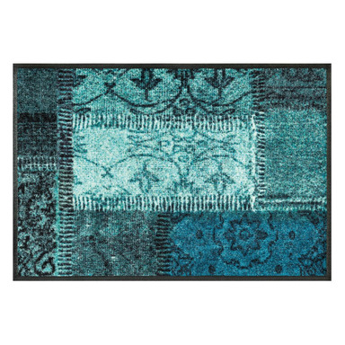 Wash&Dry Decor Fussmatte Vintage Patches türkis
