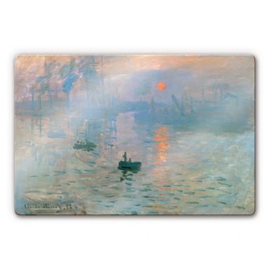 Glasbild Monet - Impression