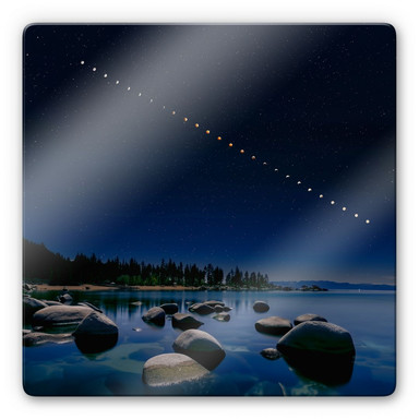 Glasbild Zhu - Mondphasen