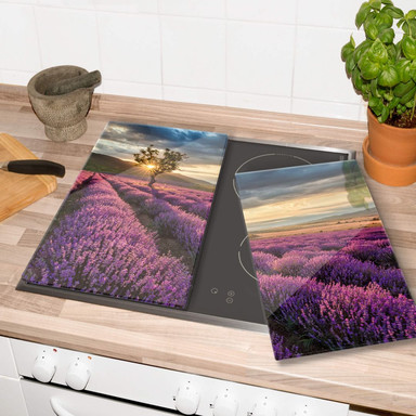 Herdabdeckplatte Lavendelblüte in der Provence