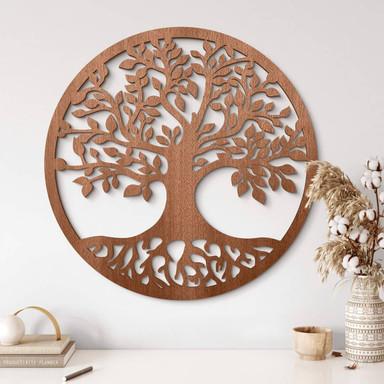 Holzdeko Mahagoni - Baum mit Wurzeln