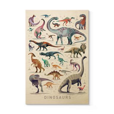 Holzposter Braun - Dinosaurs