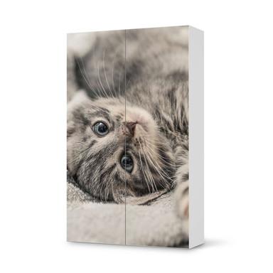 Klebefolie IKEA Besta Schrank 2 Türen (hoch) - Kitty the Cat