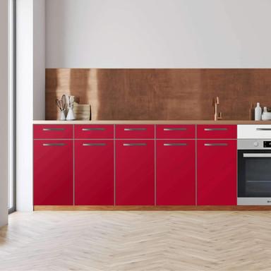 Küchenfolie - Unterschrank 200cm Breite - Rot Dark