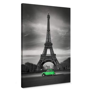 Leinwandbild La Vie est Belle - grün