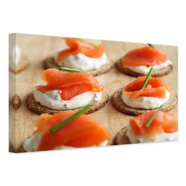 Leinwandbild Salmon Appetizer