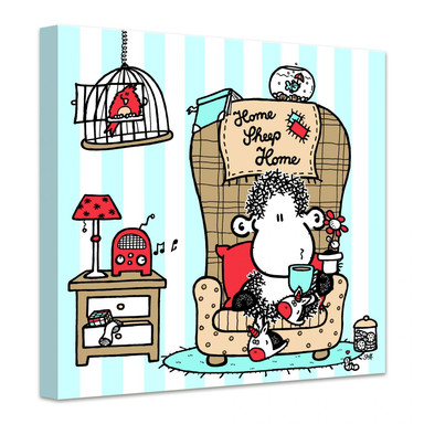 Leinwandbild sheepworld Home Sheep Home Tea Time