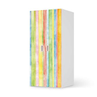Möbelfolie IKEA Stuva / Fritids Schrank - 2 grosse Türen - Watercolor Stripes