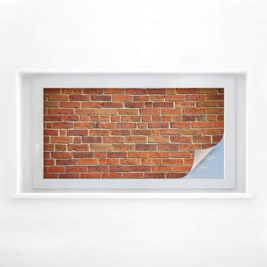 Sichtschutzfolie Ziegelsteinmauer - Panorama