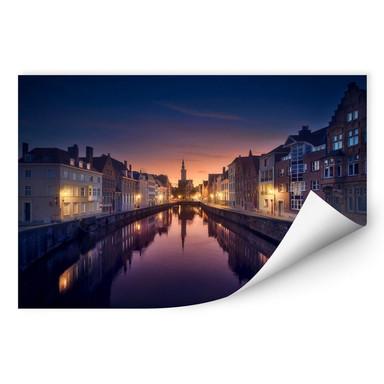 Wallprint García - Sunset in Brugge