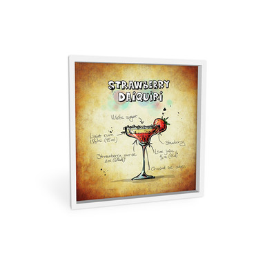 Wandbild Strawberry Daiquiri - quadratisch