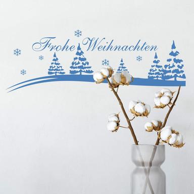 Wandtattoo Frohe Weihnachten Winterlandschaft