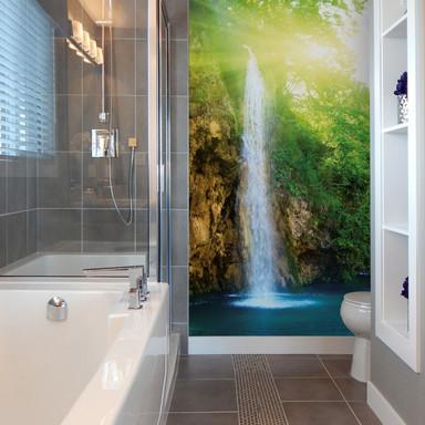 Fototapete - Blue Waterfall - 192x260cm - Bild 1