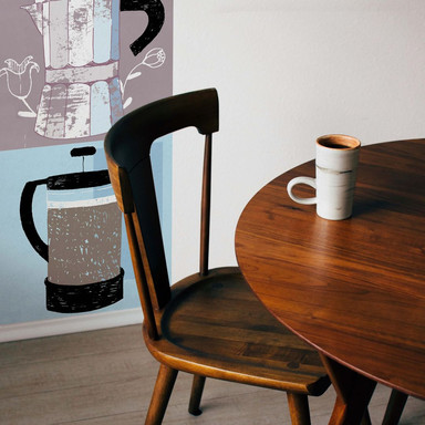 Fototapete Loske - Coffee Time - Panorama - 48x260cm - Bild 1