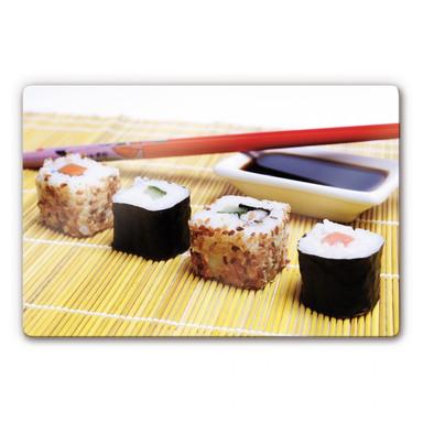 Glasbild Sushi Maki
