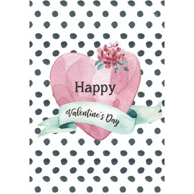Gutschein Valentinstag - Herz Polka Dots