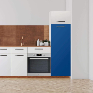 Klebefolie - Hochschrank (60x160cm) - Blau Dark- Bild 1