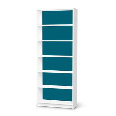 Klebefolie IKEA Billy Regal 6 Fächer - Türkisgrün Dark- Bild 1