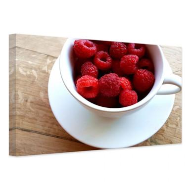 Leinwandbild Himbeer-Dessert