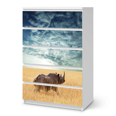 Möbel Klebefolie IKEA Malm Kommode 6 Schubladen (hoch) - Rhino- Bild 1