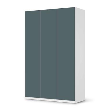 Möbelfolie IKEA Pax Schrank 236cm Höhe - 3 Türen - Blaugrau Light