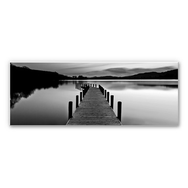 Wandbild Seepanorama - schwarz/weiß