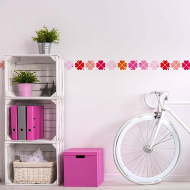 Wandtattoo byGraziela - Bordüre Kleeblatt pink - 120x25cm - Bild 1