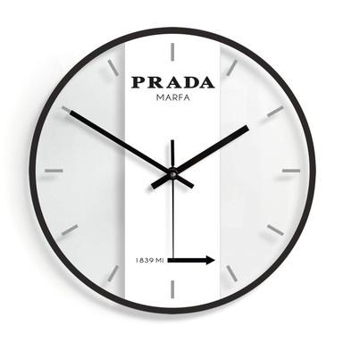 Wanduhr aus Glas - Prada Marfa Ø30cm
