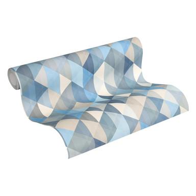 A.S. Création Vliestapete Scandinavian 2 Tapete geometrisch grafisch blau, braun, grau