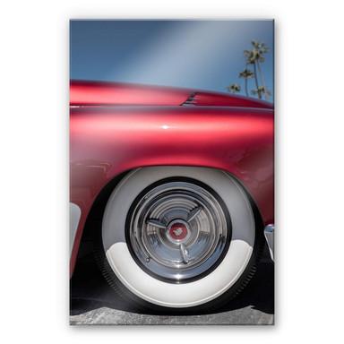Acrylglasbild Ochlich - Red Oldtimer
