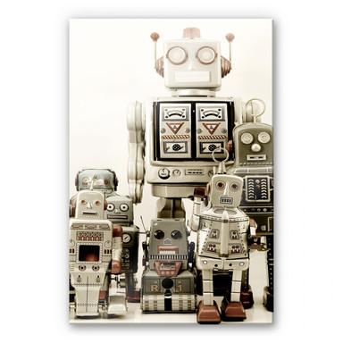 Acrylglasbild Versammlung der Roboter