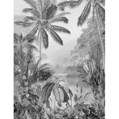 Fototapete Lac Tropical Black & White