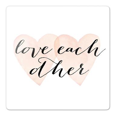 Glasbild Confetti & Cream - Love each other