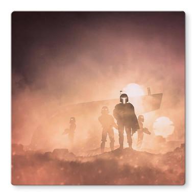 Glasbild Del Grosso - Tatooine - Quadratisch
