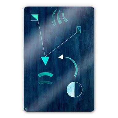 Glasbild Kandinsky - Dahin