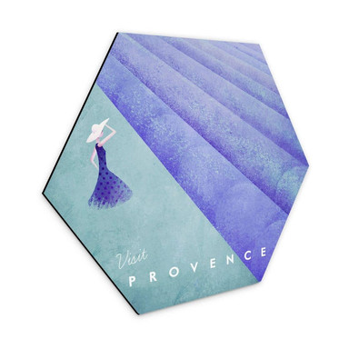 Hexagon - Alu-Dibond Rivers - Provence