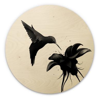 Holzbild Ireland - Chorum - Kolibri - Rund